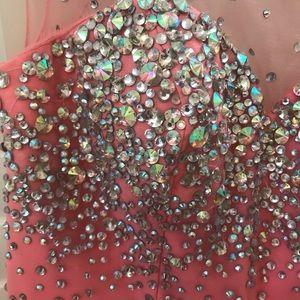 Tony Bowls Dresses - Tony Bowls Le Gala pink beaded gown